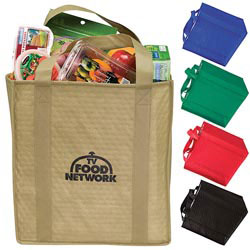 Custom imprinted Insulated Grocery Tote