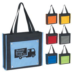 Custom imprinted Contempo Tote Bag