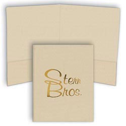 Custom imprinted 9 x 12 Presentation Folders Linen
