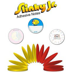 Custom imprinted Slinky Jr.  Adhesive Note Pad - Junior Size - 100