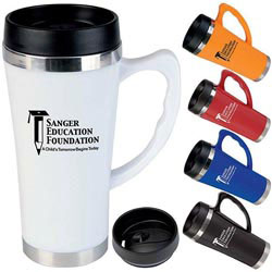 Custom imprinted 16 Oz. Hudson Travel Mug
