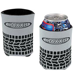 Custom imprinted Tire Tread Koozie Can Kooler