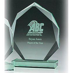 Custom imprinted Jade Eclipse Award- Medium