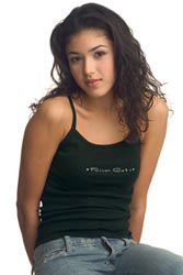 Custom imprinted Ladies Spaghetti Strap Tank - Dark Colors