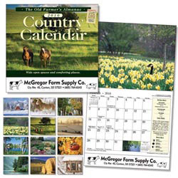 Custom imprinted Old Farmer's Almanac Country Wall Calendar