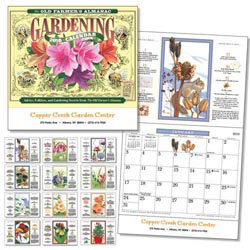 Custom imprinted Old Farmer's Almanac Gardening Wall Calendar