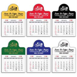 Custom imprinted Small Circle Vinyl Adhesive Calendar