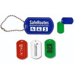 Custom imprinted Plastic Dog Tag with 4 1/2