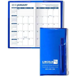 Custom imprinted Planners With Zip-Lock Pocket & Flat Matching Pen