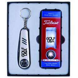 Custom imprinted Clubhouse Gift Set - Titleist DT Roll