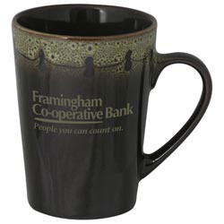 Custom imprinted 12 Oz. Mug With Decorative Trim