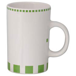 Custom imprinted 12 Oz. Geo Mug