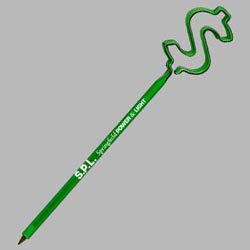 Custom imprinted Dollar Sign Baby Bends Pen