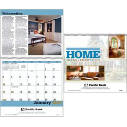 Custom imprinted Home Improvement Tips Calendar
