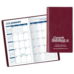 Custom imprinted Monthly Pocket Planner