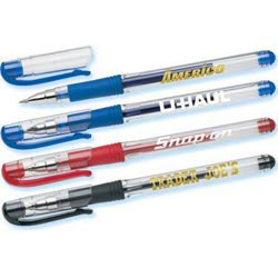 Custom imprinted USA Gel Pen Solid Color