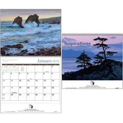 Custom imprinted Scenic Inspirations Wall Calendar