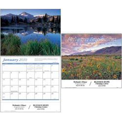 Custom imprinted Religious Inspirations Calendar