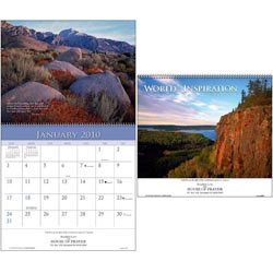 Custom imprinted World of Inspiration Wall Calendar