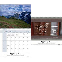 Custom imprinted Words of Life Calendar