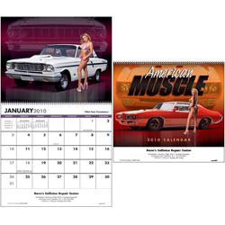 Custom imprinted American Muscle Calendar