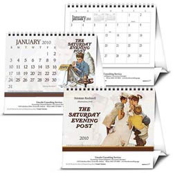 Custom imprinted Saturday Evening Post Large Desk Calendar