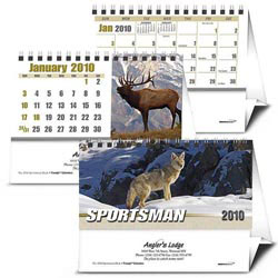 Custom imprinted Sportsman Desk Calendar