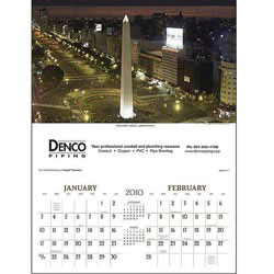 Custom imprinted World Scenic Calendar