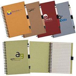Custom imprinted Recycled Notebook With Matching Paper Pen