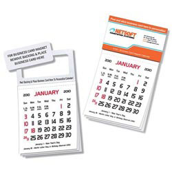 Custom imprinted Business Card Magnet Calendar