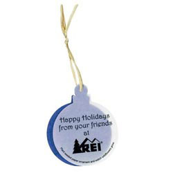 Custom imprinted Seeded Paper Ornaments