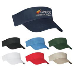 Custom imprinted Cotton Twill Visor - Embroidered