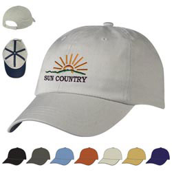 Custom imprinted Cotton Chino Cap - Embroidered