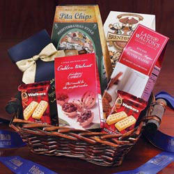 Custom imprinted Gourmet Gift Basket