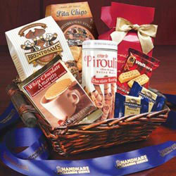 Custom imprinted Simply Gourmet Gift Basket