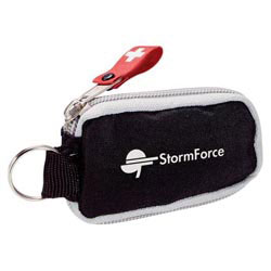Custom imprinted StaySafe Key Chain First Aid Kit