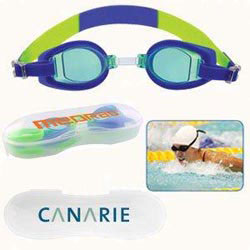 Custom imprinted Porpoise Swim Goggles With Case