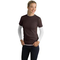 Custom imprinted Sport-Tek Ladies Long Sleeve Double Layer T-Shirt