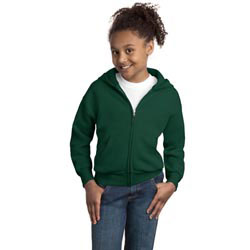 Custom imprinted Hanes Youth ComfortBlend Full-Zip Hooded Sweatshir