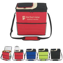 Custom imprinted Flip Flap Insulated Kooler Bag