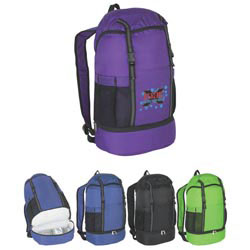 Custom imprinted Budget Sports Backpack With Insulated Bottom