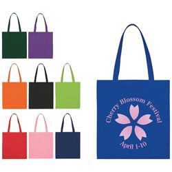 Custom imprinted Non-Woven Economy Tote Bag
