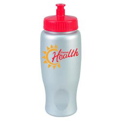 Custom imprinted 27 Oz. ShimmerZ Sport Bottle With Push-Pull Lid