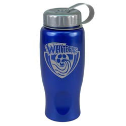 Custom imprinted 27 Oz. ShimmerZ Sport Bottle With Tethered Lid