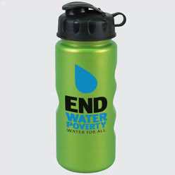 Custom imprinted 22 Oz. Metalike Bottle With Flip Lid