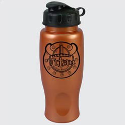 Custom imprinted 27 Oz. Metalike Bottle with Flip Cap