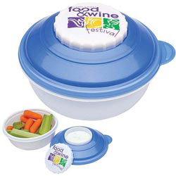 Custom imprinted Snack & Dip Container