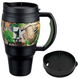 Custom imprinted 20 Oz. Real Tree Camouflage Bubba Keg Mug