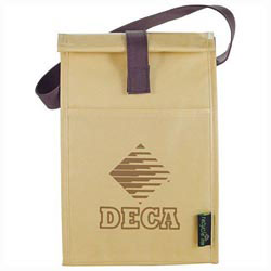 Custom imprinted Brown Baggin It Lunch Bag