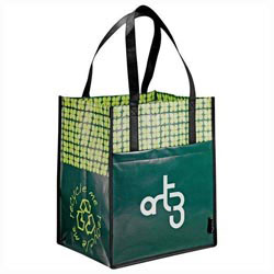 Custom imprinted Laminated Non-Woven Big Grocery Tote
